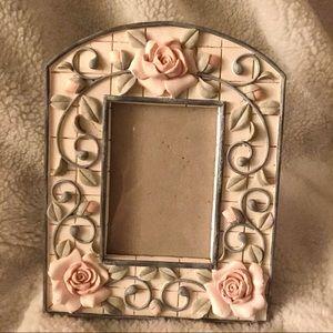Pink Roses Ceramic Frame